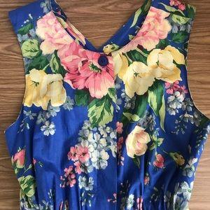 Ready for Summer Blue Floral Sundress